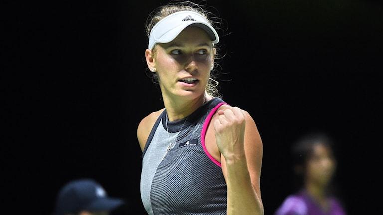 Caroline Wozniacki är klar för final i WTA-slutspelet.