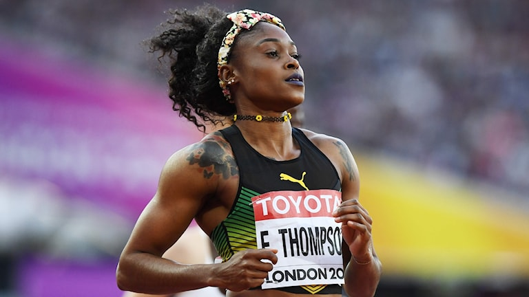 Elaine Thompson slutade femma i finalen på 100 meter.