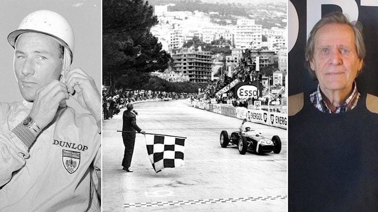 Stirling Moss och Fredrik af Petersens. Foto: AP och SR