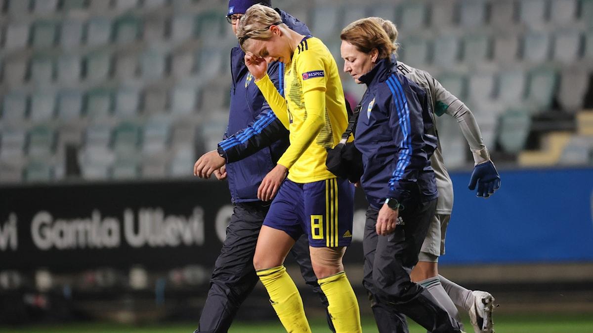 Lina Hurtig med lindat lår.