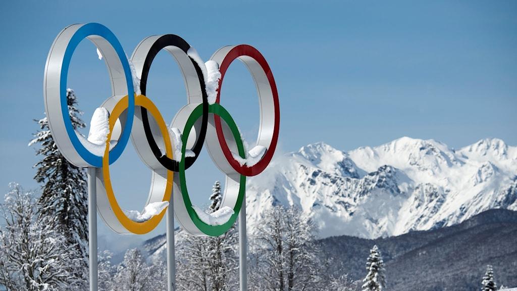 De olympiska ringarna. Arkivbild.