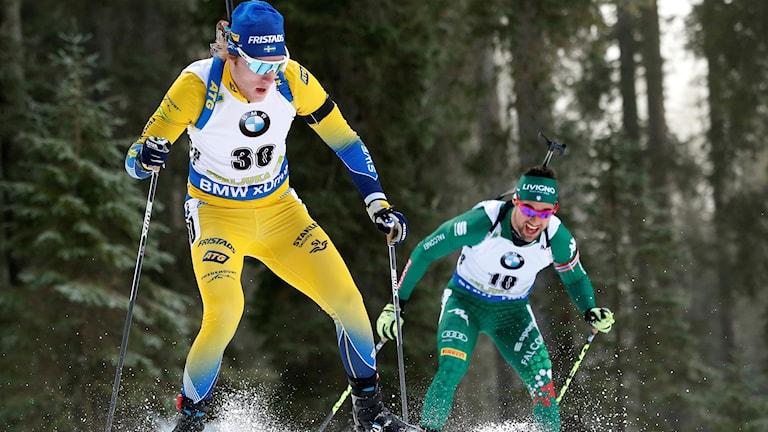 20181206 Skidskytten Sebastian Samuelsson. Foto: Darko Bandic/TT
