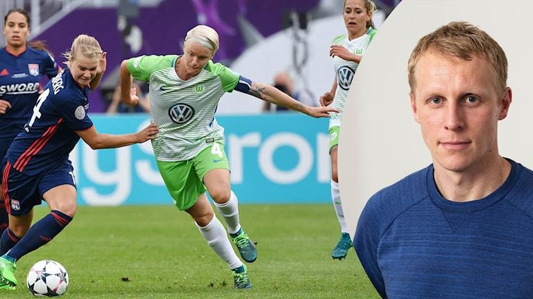Nilla Fischer och Radiosportens Richard Henriksson.