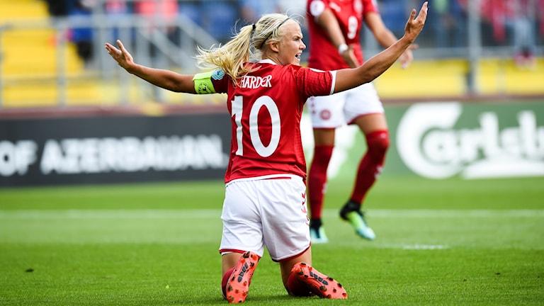 Pernille Harders Danmark kanske får sitt straff den 16 november.