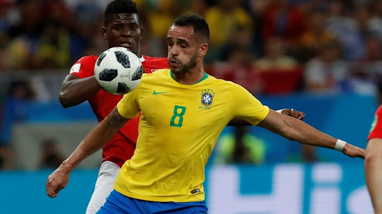 Brasilien fick 1–1 med sig mot Schweiz.