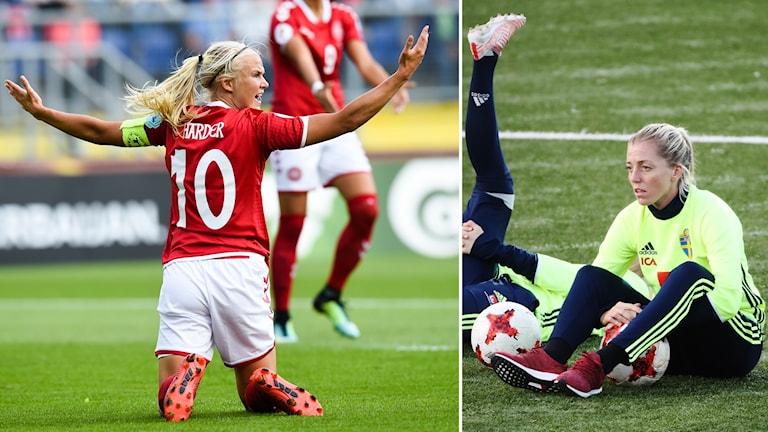 Linda Sembrant räknar med att Pernille Harders Danmark kommer till spel.