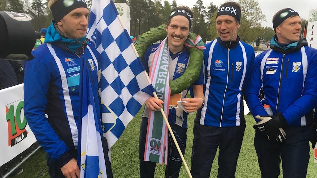Fyra IFK-löpare, fr. v: Fredrik Backman, Max Peter Beijmer, Jonas Pihlblad & Johan Högstrand