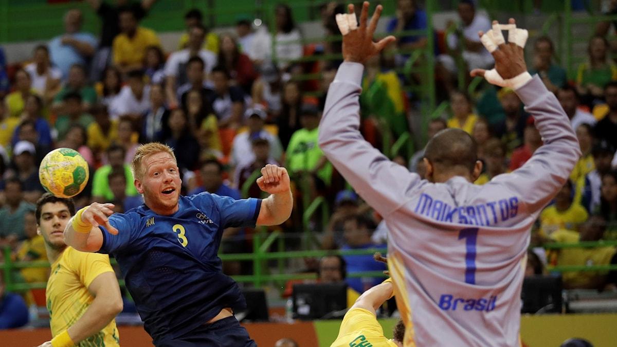 Jim Gottfridsson avslutar mot Brasilien i OS