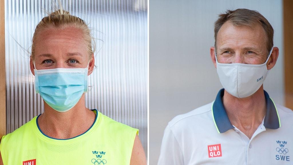 Caroline Seger och Peder Fredricson.