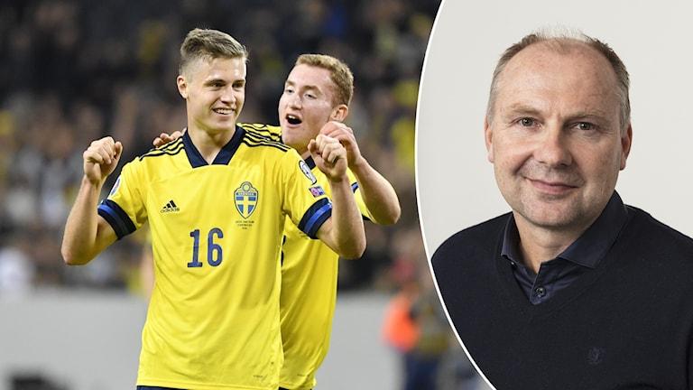 Mattias Svanberg (tv), Dejan Kulusevski och Håkan Mild.