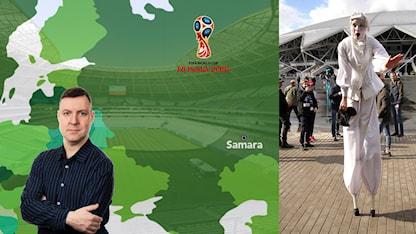 VM-staden Samara. Foto: TT och SR