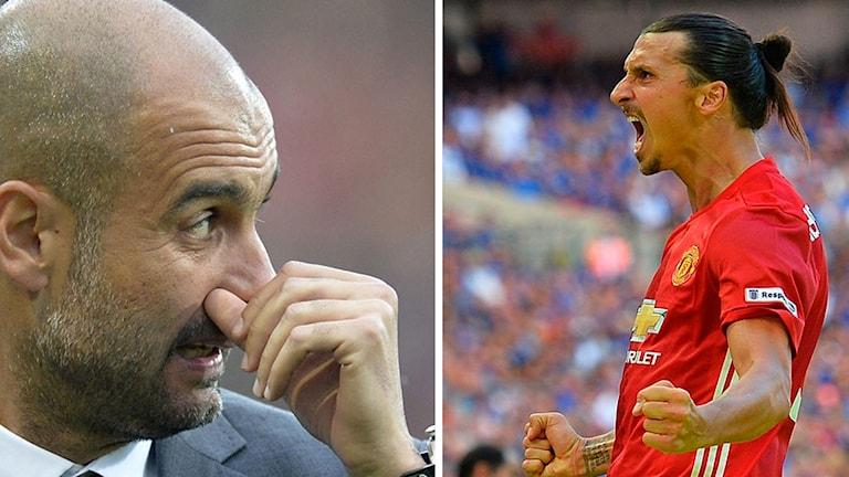 Pep Guardiola möter Zlatan.