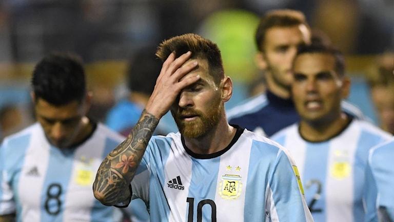 Tungt för Lionel Messi och hans landslagskollegor.