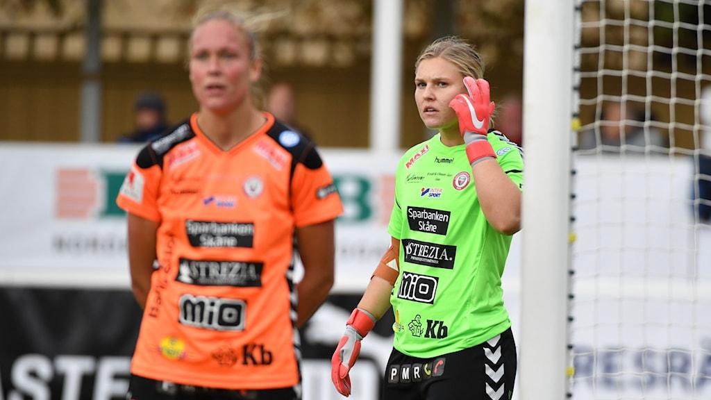 Moa Olsson i Kristianstads mål.