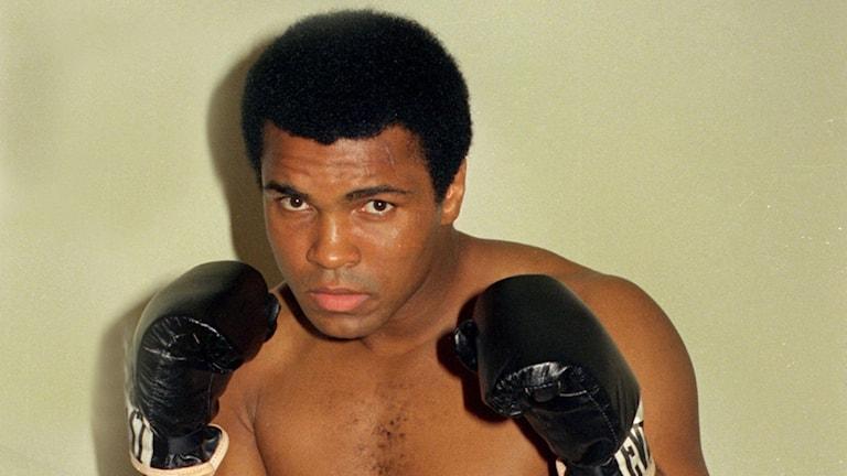 Arkivbild på en ung Muhammad Ali.