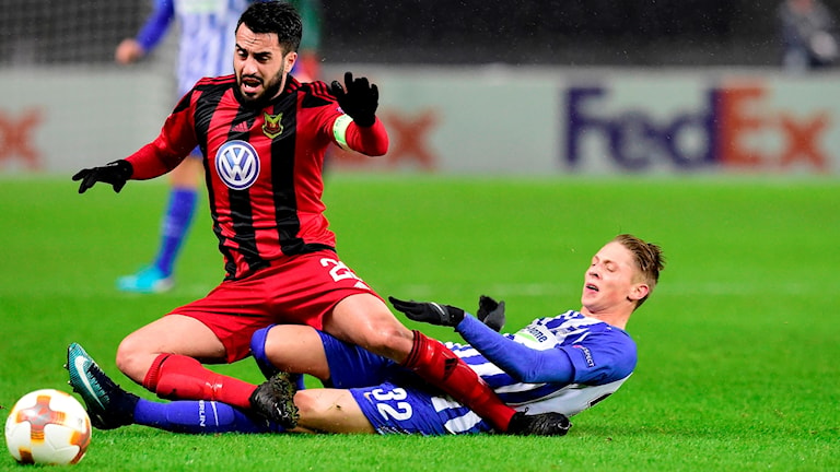 Brwa Nouris Östersund kryssade mot Hertha Berlin.