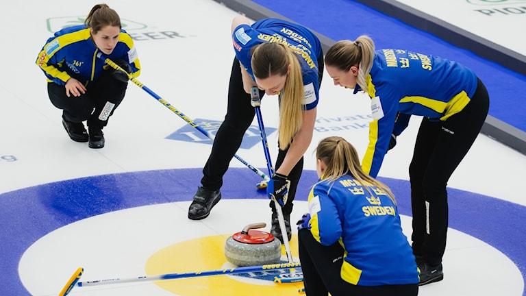 VM 2019 curling Lag Anna Hasselborg. Foto: © WCF / Celine Stucki