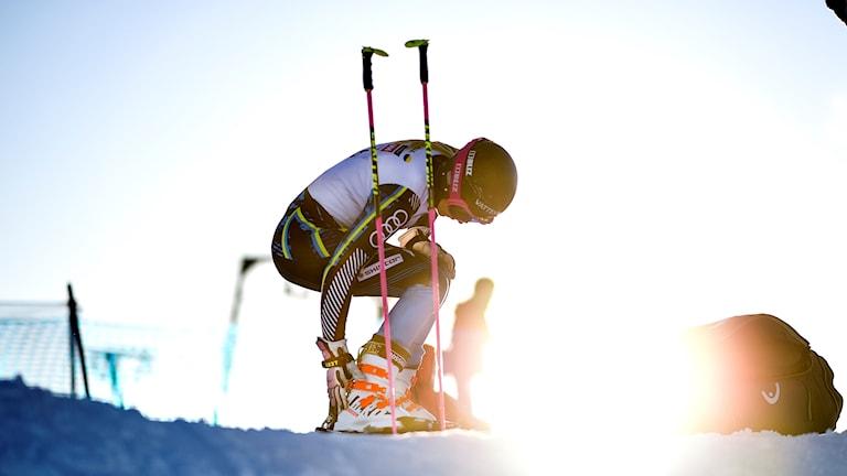 Frida Hansdotter tränar på Vemdalsskalet inför alpina VM i Åre.