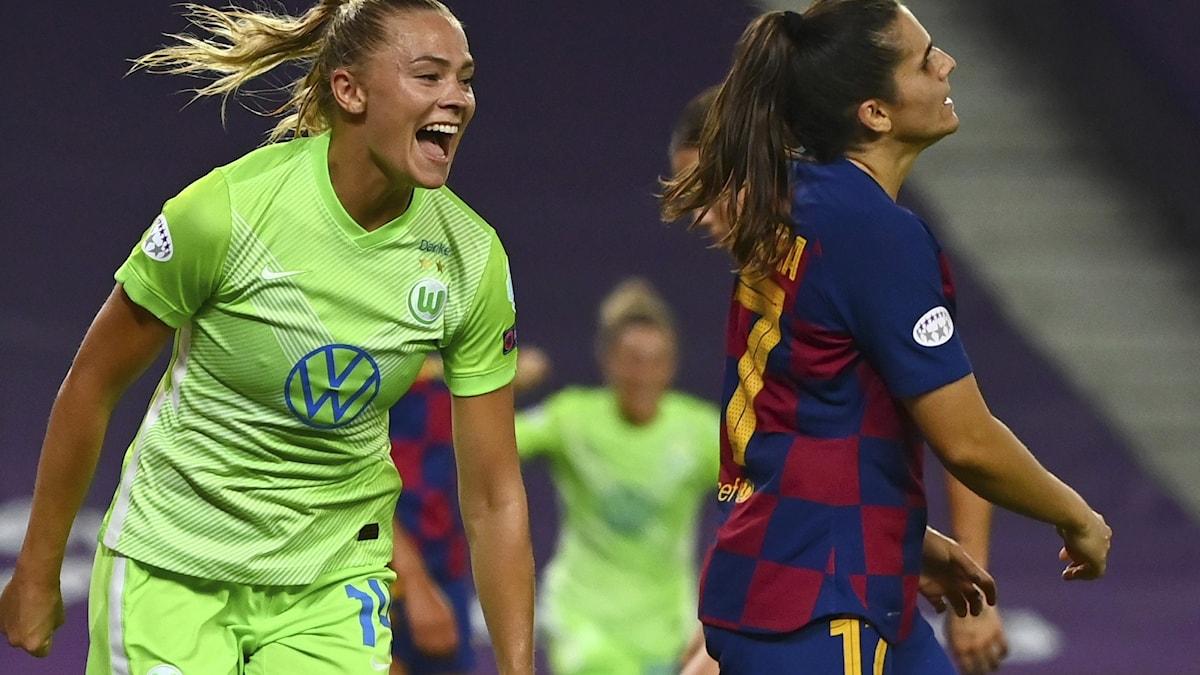 Wolfsburg Fridolina Rolfö. Foto: Gabriel Bouys/AP