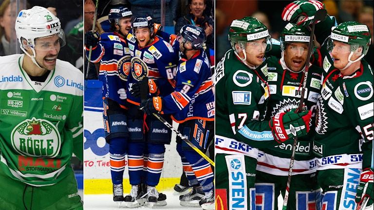 Rögle, Växjö och Frölunda var tre av kvällens vinnare.