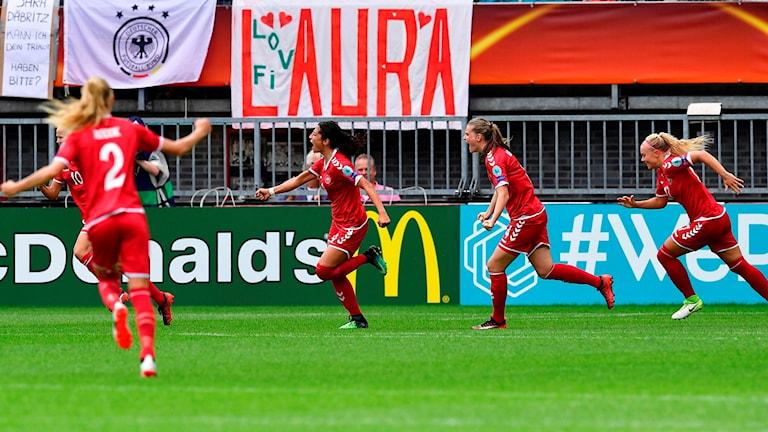 Danmark slog ut storfavoriten Tyskland.