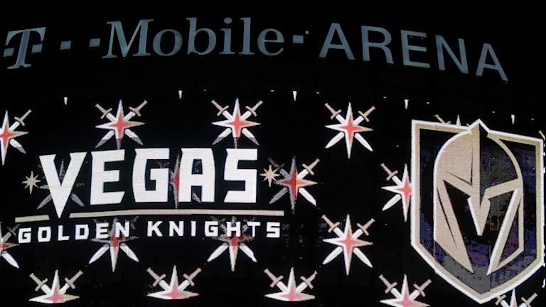 Så här ser det nya NHL-laget Vegas Golden Knights lagmärke ut.