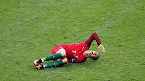 Ronaldo skadad.