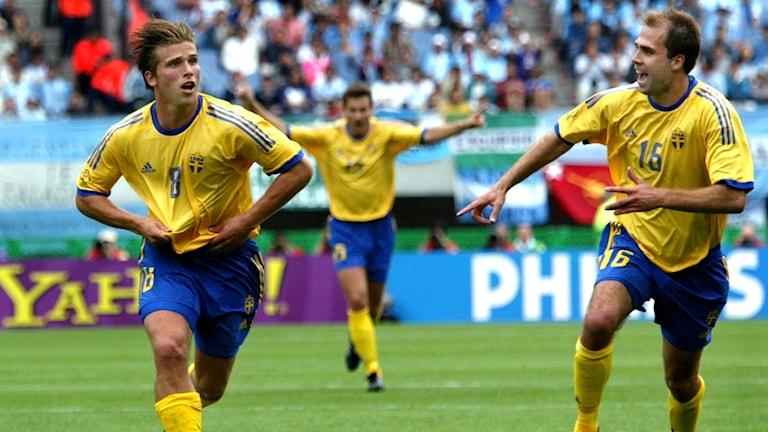 Anders Svensson efter målet mot Argentina.
