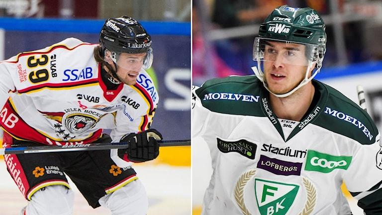 Luleås Pontus Själin och Färjestads Michael Lindqvist.