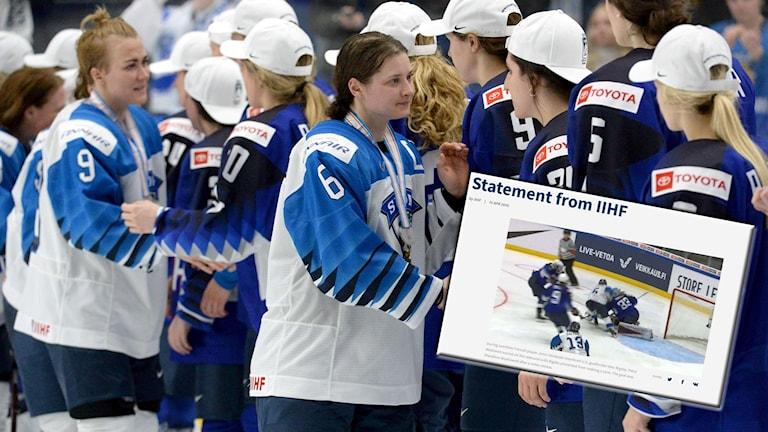 Det internationella ishockeyförbundet har förklarat varför det finska målet blev bortdömt.