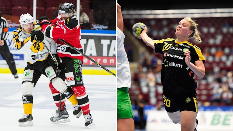Skellefteå-Malmö och Sävehofs Ida Odén.