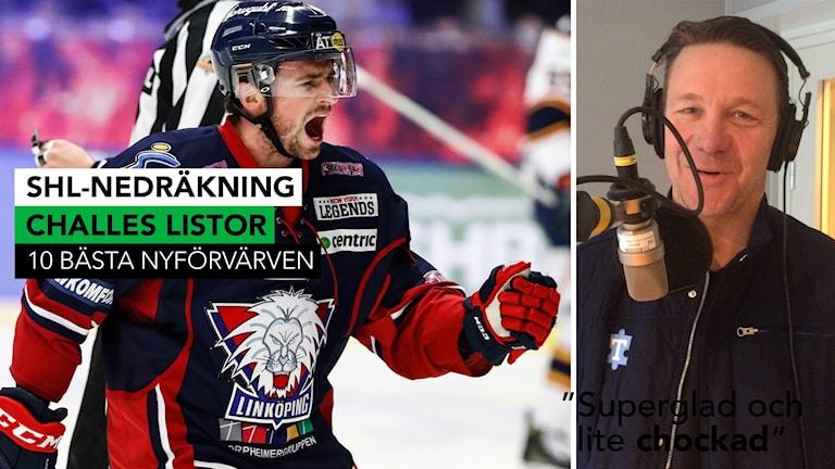 Linköpings Broc Little med på Challes lista över bästa nyförvärv. Foto: TT och SR