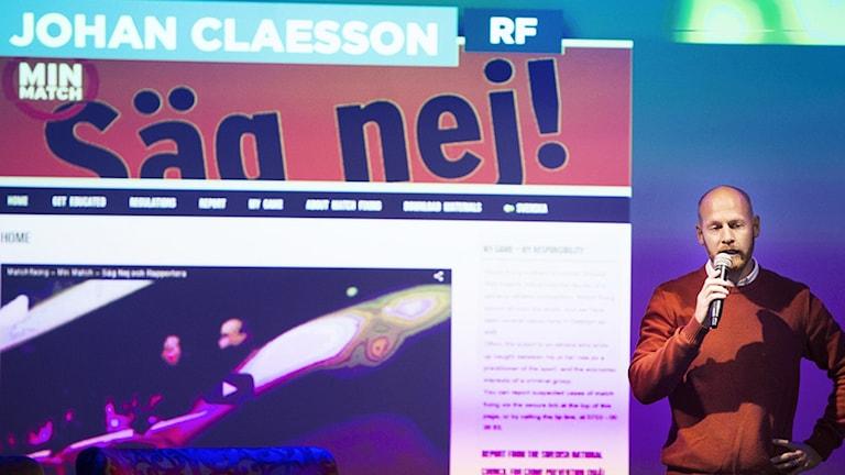 RF:s Johan Claesson.