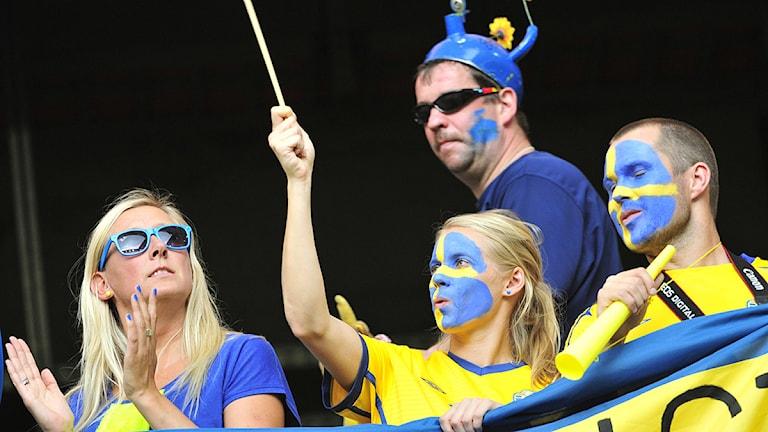 Arkivbild. Svenska fans. Foto Jonas Ekströmer / SCANPIX.
