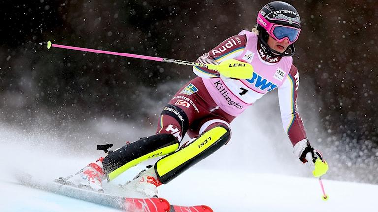 Frida Hansdotter blev femma i Killingtons slalom.