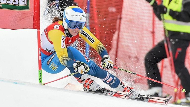 Maria Pietilä Holmner under storslalomen i Semmering.