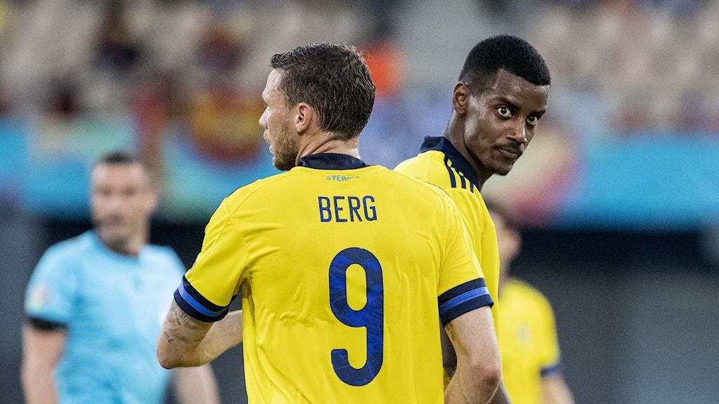 Marcus Berg och Alexander Isak.
