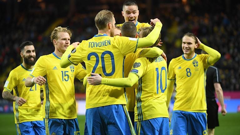 Sverige tog tre poäng mot Vitryssland.