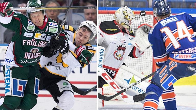 Frölunda-Skellefteå och Växjö-Malmö möts i SM-kvartsfinal 3:7.