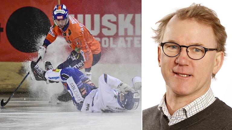 Flytten av bandykansliet rör upp känslor. Till höger Per-Anders Gustafsson.