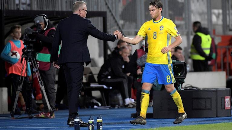 Janne Andersson kan glädjas åt att Albin Ekdal är tillbaka efter skada.