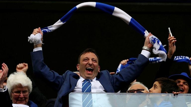Brighton-jubel efter segern mot Wigan.