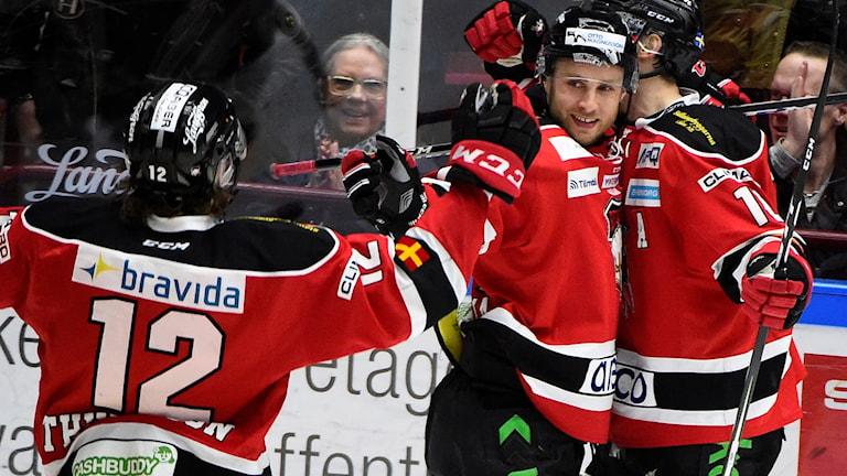 Malmö fick jubla efter 3-2-segern över HV71 på måndagskvällen.