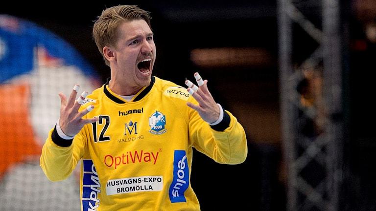 Kristianstads målvakt Leo Larsson.
