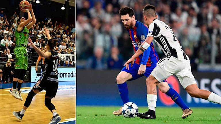 Umeå och Luleå drabbar samman i den första finalmatchen och Barcelona ska försöka vända mot Juventus i Champions League.