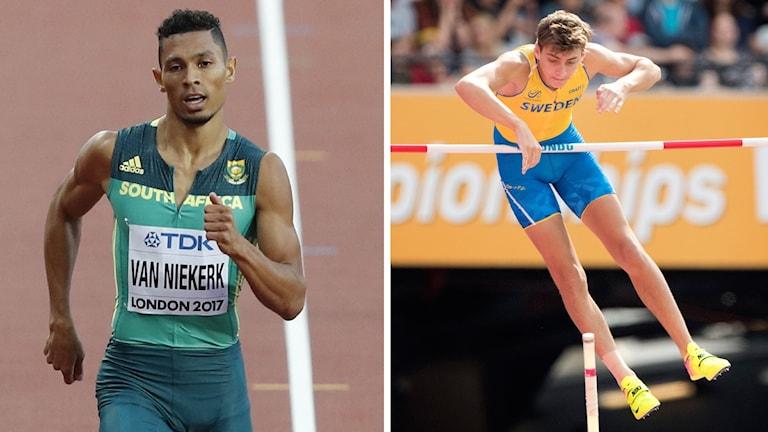 Wayde van Niekerk och Armand Duplantis, kvällens två höjdpunkter.