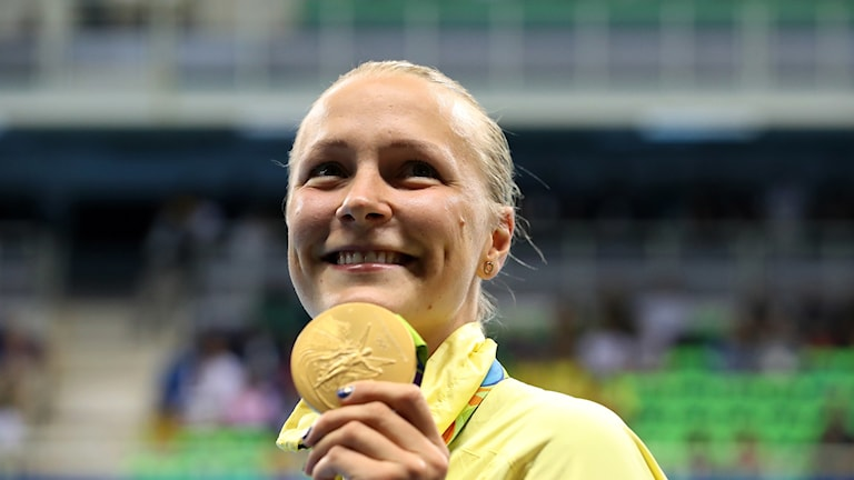 Sarah fick sin medalj