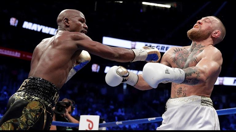 Floyd Floyd Mayweather Jr. vs Conor McGregor. Foto: Isaac Brekken/TT.