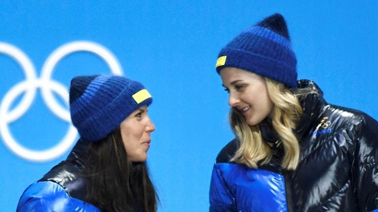 Charlotte Kalla och Stina Nilsson.