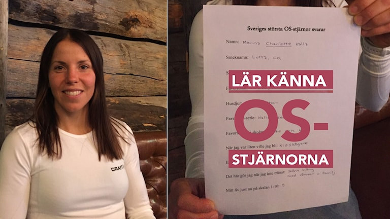 Charlotte Kalla möt OS-stjärnorna. Foto: Alexander Lundholm/SR